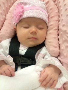car seat, baby, asleep